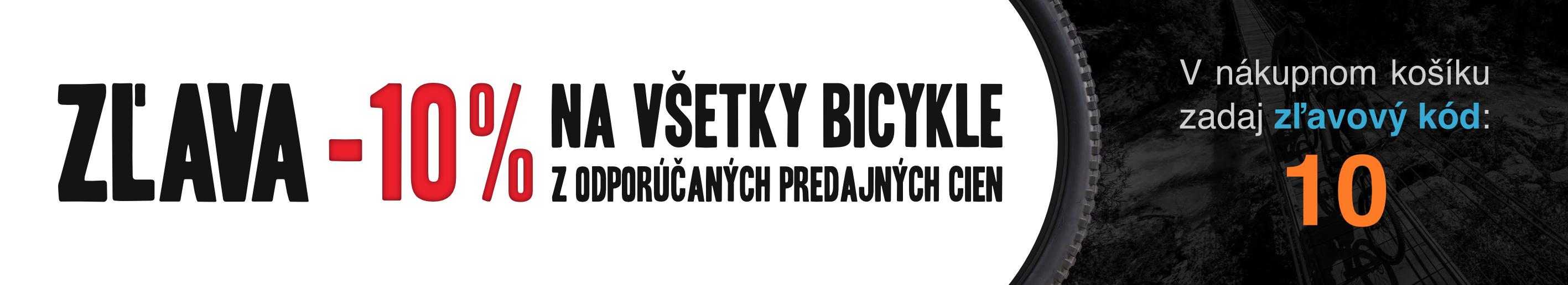 Zľavový kupón na bicykle