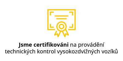 Jsme certifikováni na techniké kontroly VZV