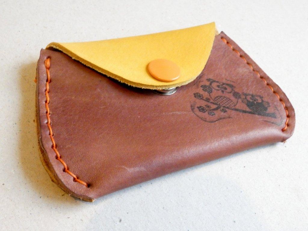 hnědo žlutá  peněženka