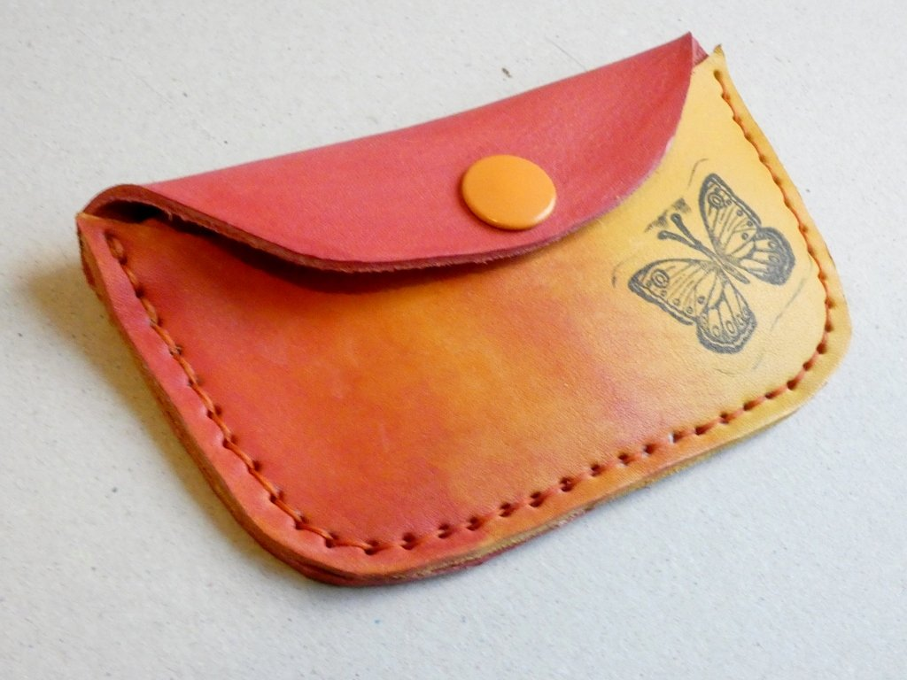 červeno žlutá  peněženka