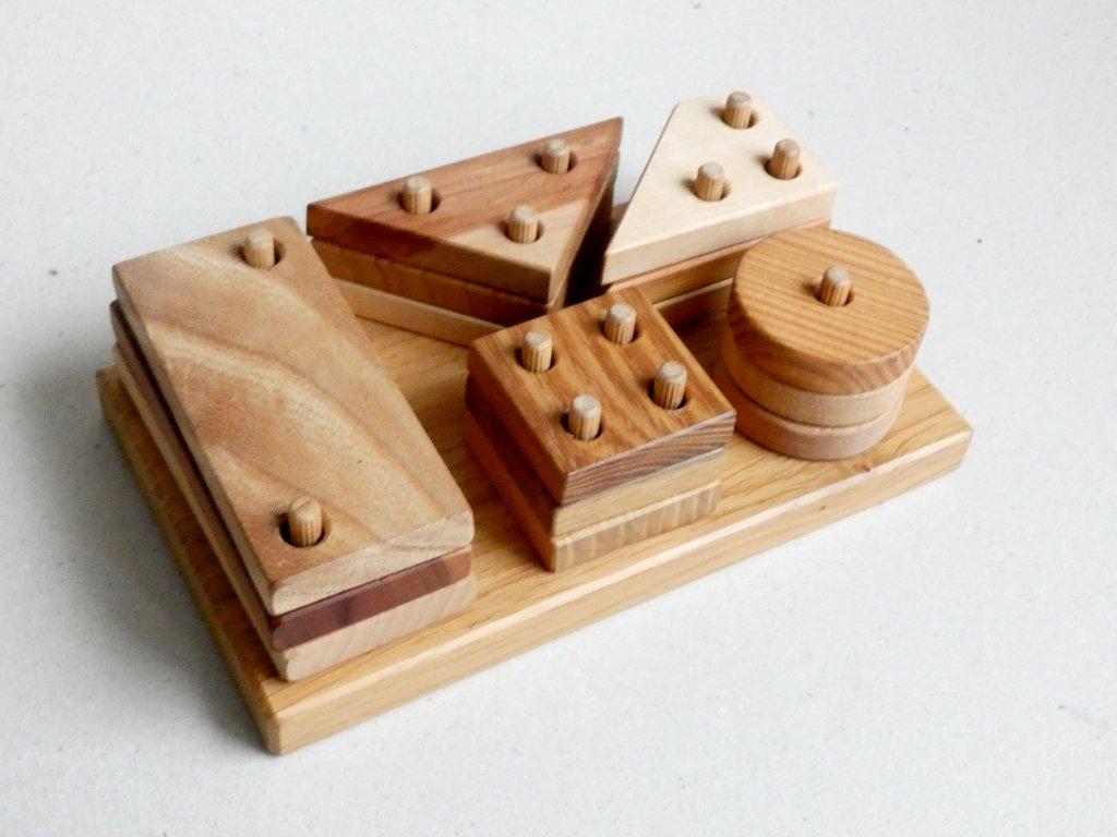 dřevěná vkládačka