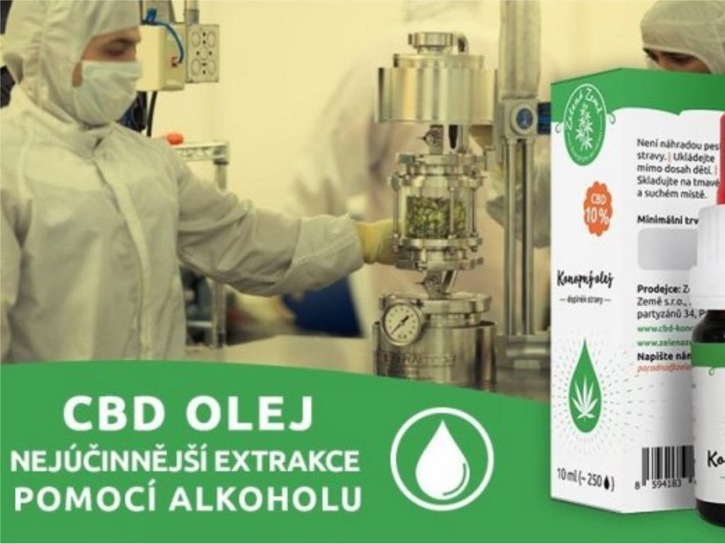 CBD olej - nejúčinnější extrakce pomocí alkoholu