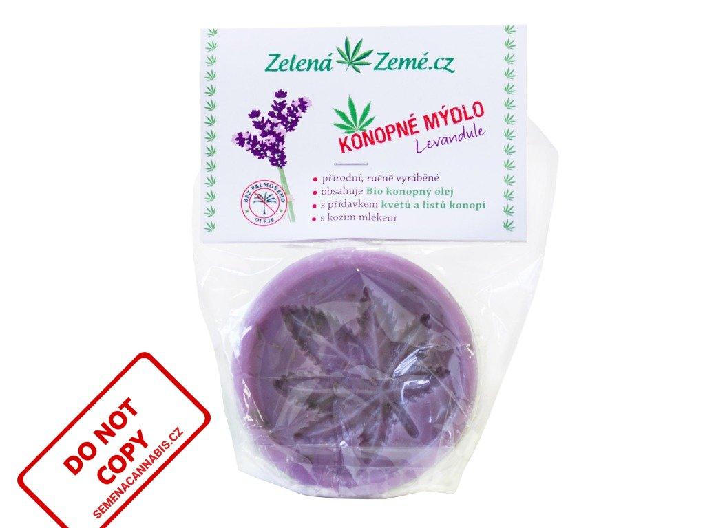Konopné mýdlo - Levandule 80 g | Zelená Země