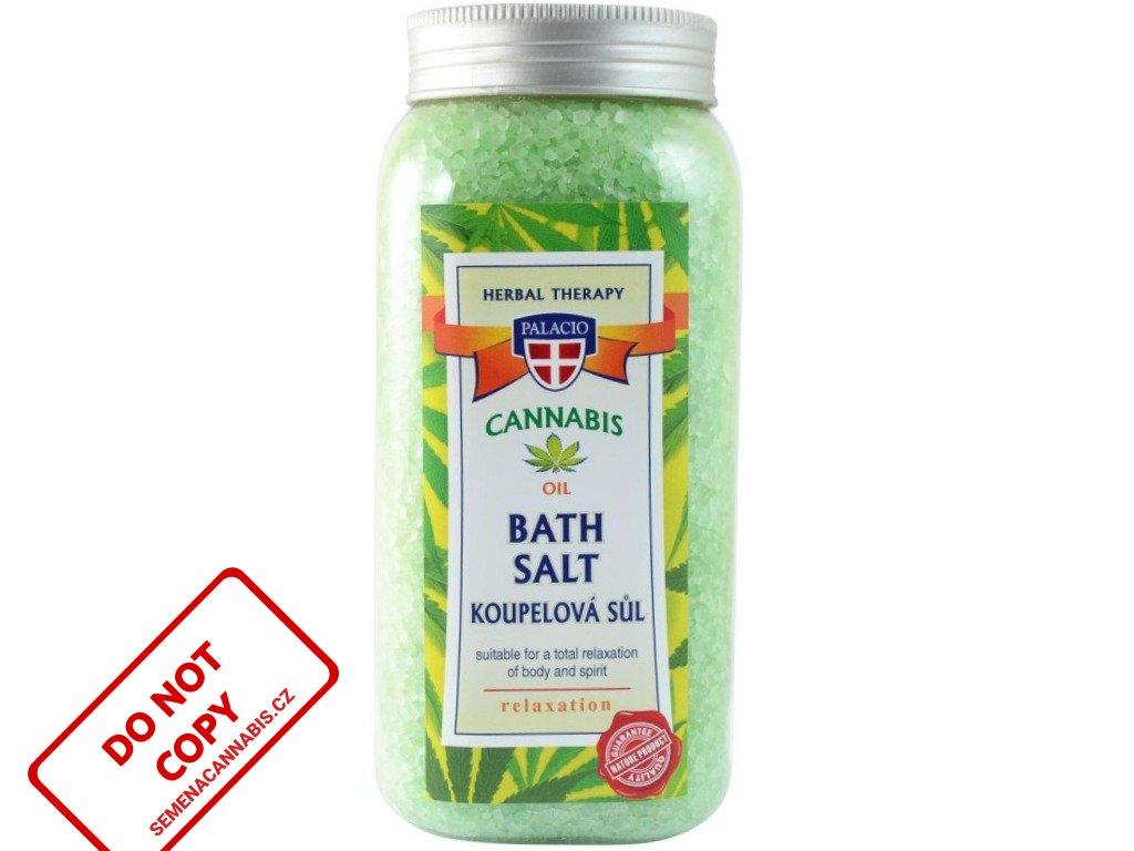 Konopná sůl do koupele , 900g   Cannabis