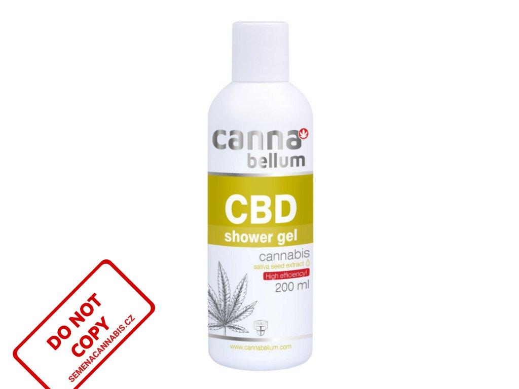 CBD Sprchový gel 200 ml + Zdarma CBD Čistící gel na ruce 50 ml   Cannabellum