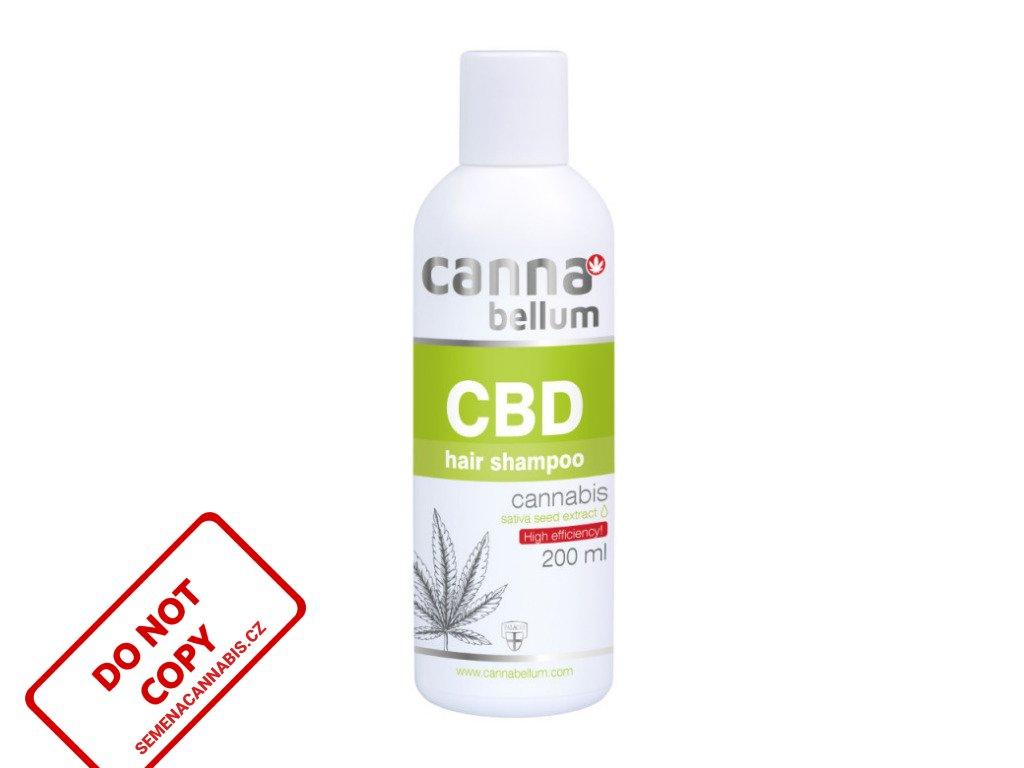 CBD vlasový šampon 200 ml + Zdarma CBD Čistící gel na ruce 50 ml | Cannabellum