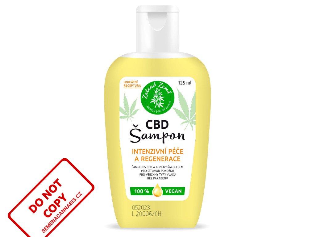 CBD Konopný šampon, 125 ml | Zelená Země