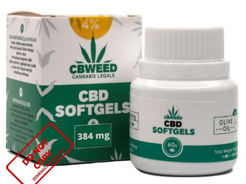 CBD kapsle (4% - 384mg) 60 ks | CBWEED