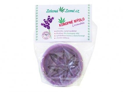 Konopné mýdlo - Levandule 80 g   Zelená Země
