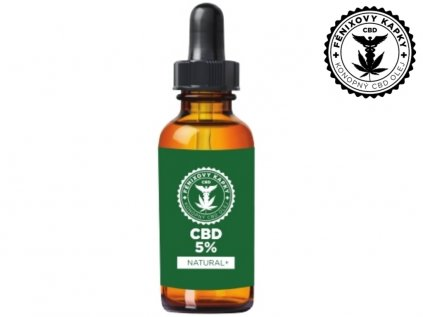 CBD olej 5% bez aroma, 10ml Fénixovy kapky | SEMENACANNABIS.CZ