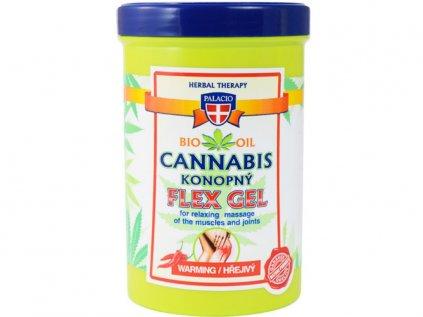Konopný masážní gel FLEX hřejivý, 380ml   Cannabis