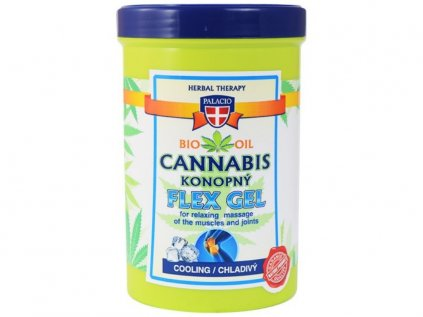 Konopný masážní gel FLEX chladivý, 380ml   Cannabis