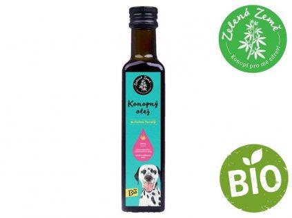 BIO konopný olej pro zvířata 250ml | Zelená Země