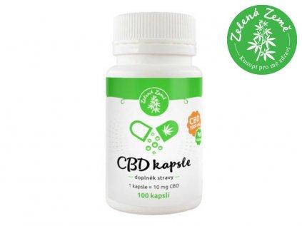 CBD kapsle - 100 ks (*1000 mg CBD)   Zelená Země
