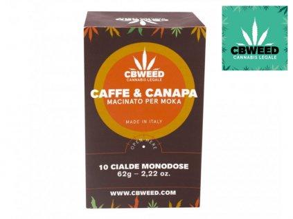 Mletá káva s BIO konopnou moukou 62 g   CBWEED