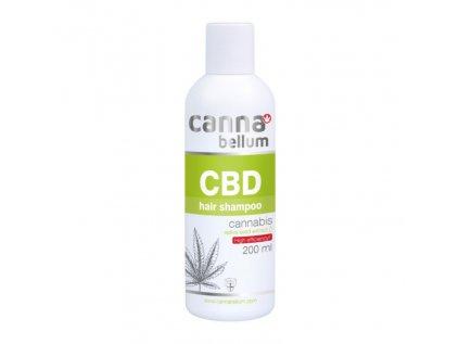 CBD vlasový šampon 200 ml + Zdarma CBD Čistící gel na ruce 50 ml   Cannabellum