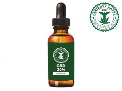 CBD olej 20% bez aroma, 10ml   Fénixovy kapky