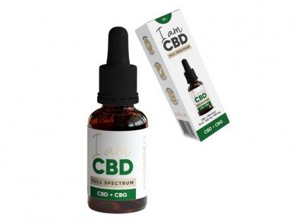 Full spectrum CBG + CBD olej original 10% (5% CBG + 5% CBD - 1000mg) 10 ml | IamCBD