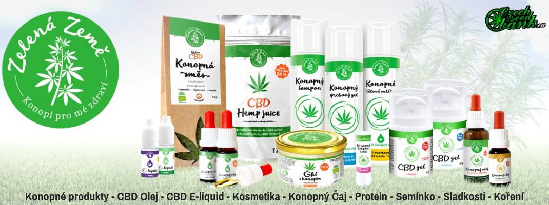 CBD produkty společnosti Zelená země