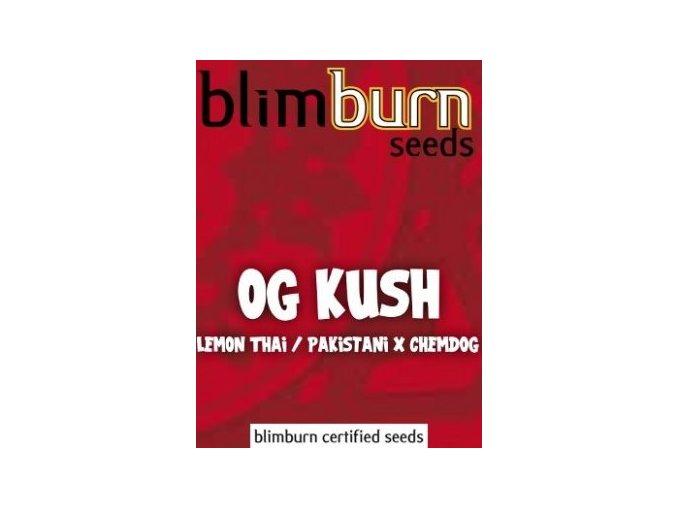 certified blimburn seeds OG KUSH feminized