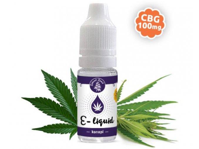 CBG e liquid 1%, příchuť konopí 10 ml ⎮ SEMENACANNABIS.CZ