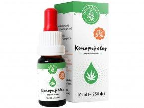 CBD Konopný olej 5% 10 ml | Zelená Země | SEMENACANNABIS.CZ