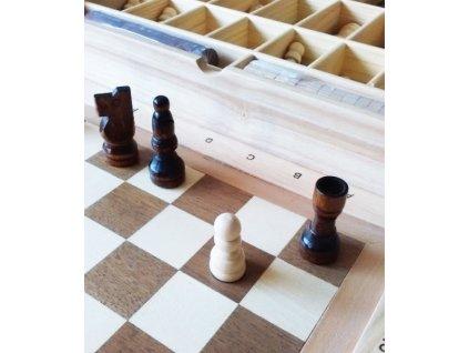 Stolní hra 3 v 1 Šachy, dáma, mlýn