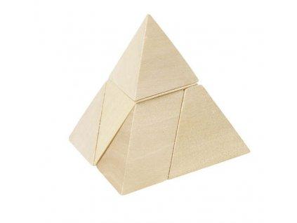Dřevěný hlavolam Pyramida