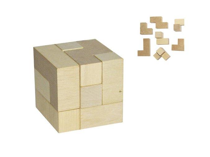 Dřevěný hlavolam Kostka