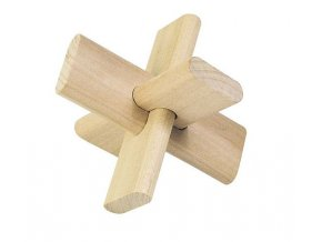 Dřevěný hlavolam Kříž