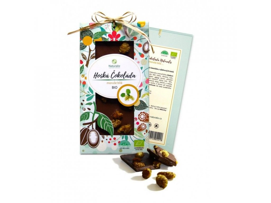 BIO Čokoláda Naturalis s moruší bílou - 80g