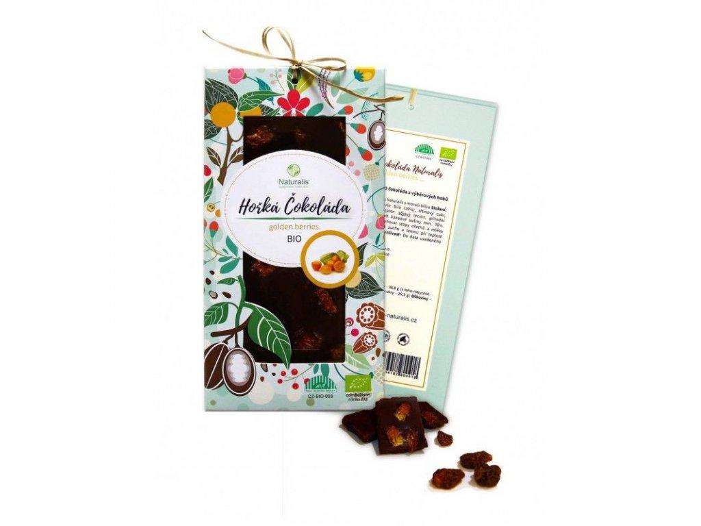 113 bio cokolada naturalis s golden berries 80g 8594182800432