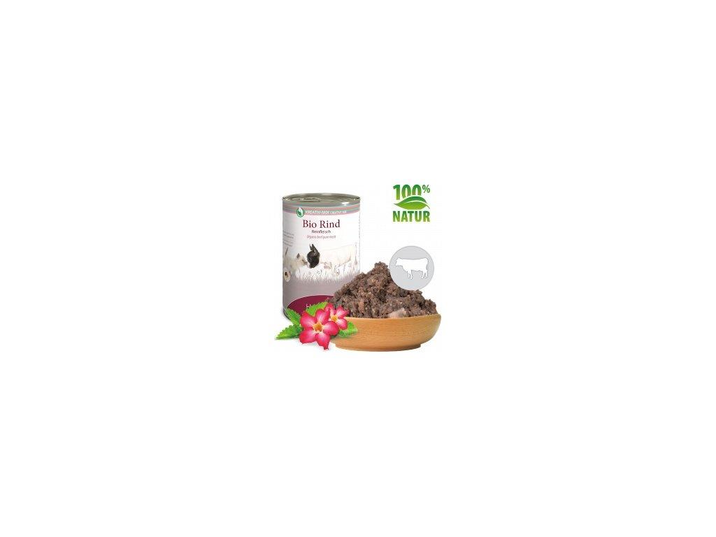 konzerva pro psy a kocky hovezi maso bio default