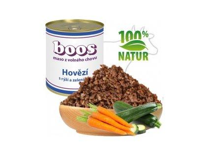 konzerva pro psy hovezi s ryzi a zeleninou boos default