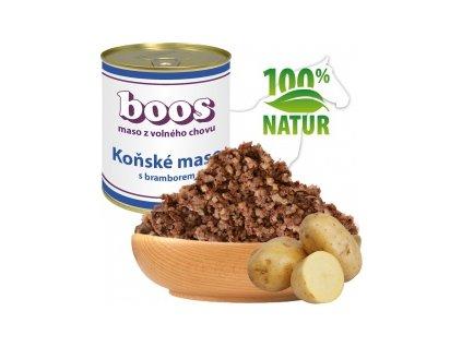 konzerva pro psy konske maso s bramborem boos default