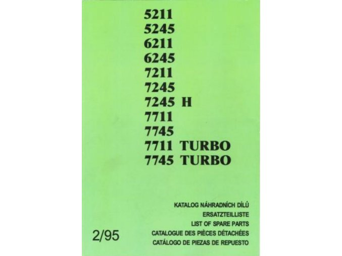 Book of spare parts for Zetor tractor 5211-7745 (Katalog)