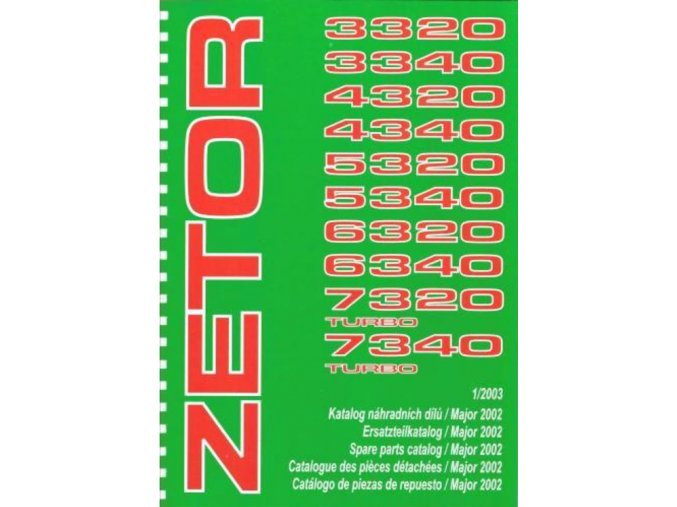 Book of spare parts for tractor Zetor 3320-7340 (Katalog)