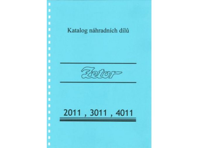 Book of spare parts for tractor Zetor 2011-4011 (Katalog)