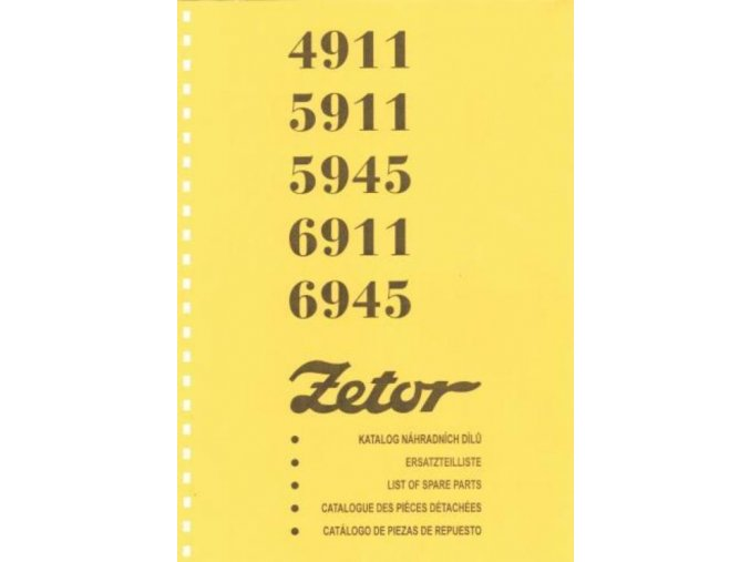 Book of spare parts for tractor Zetor 4911-6945 (Katalog)