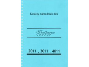 Book of spare parts for Zetor tractor 2011-4011 (Katalog)