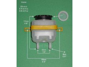 70112712 B plast.uni brake fluid reservoir250ml bremsflüssigkeitsbehälter250ml 120g