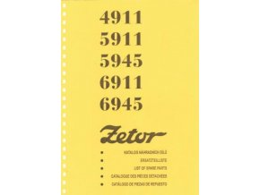 Book of spare parts for Zetor tractor 4911-6945 (Katalog)