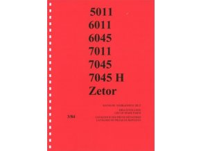 Book of spare parts for tractor Zetor 5011-7045 (Katalog)