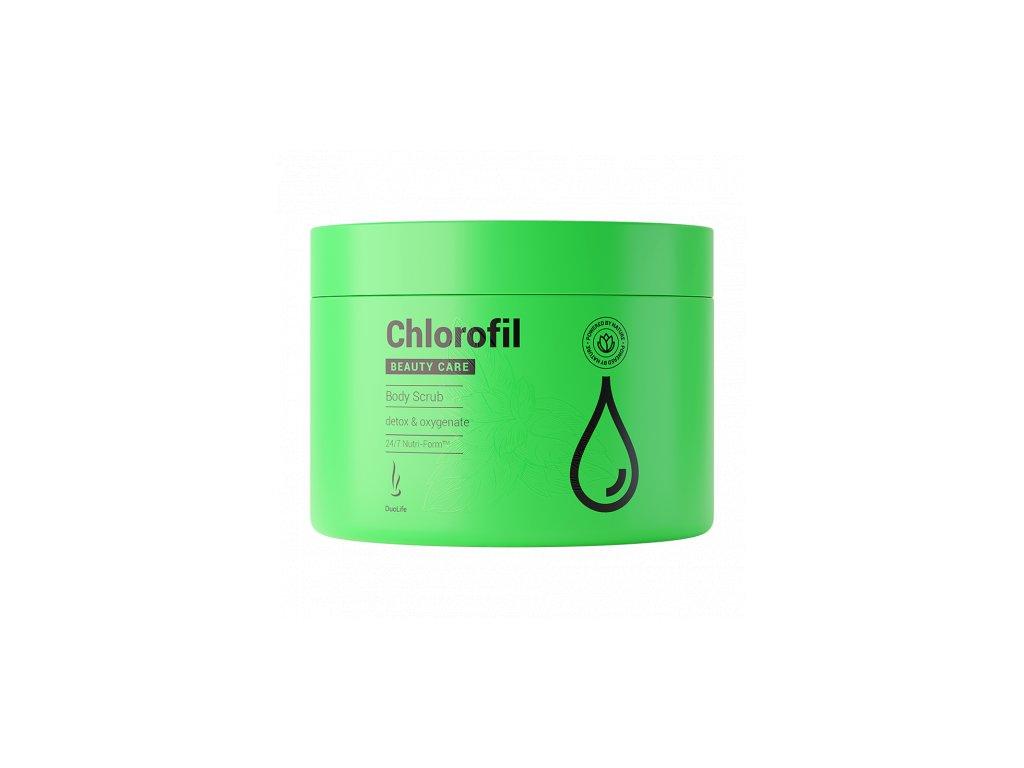 Cukrový tělový peeling, scrub s chlorofylem, 200ml
