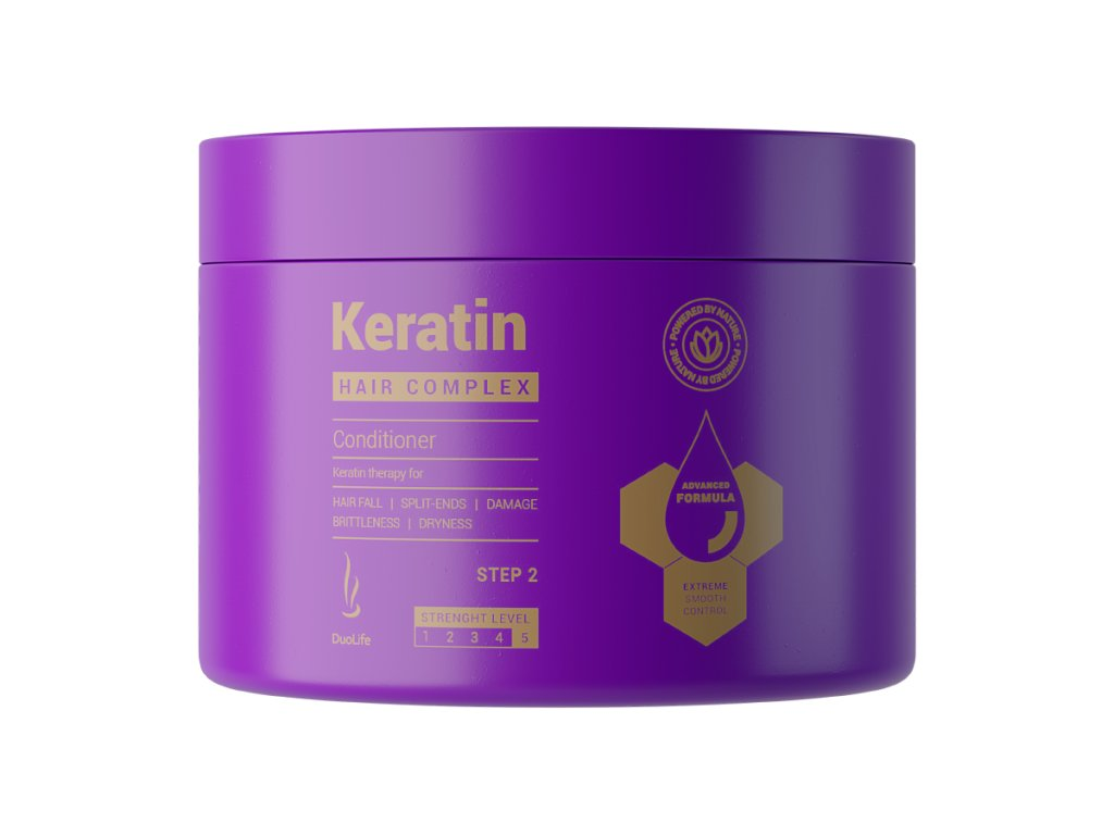 DuoLife Hair Complex Keratin kondicionér na poškozené vlasy, 200ml