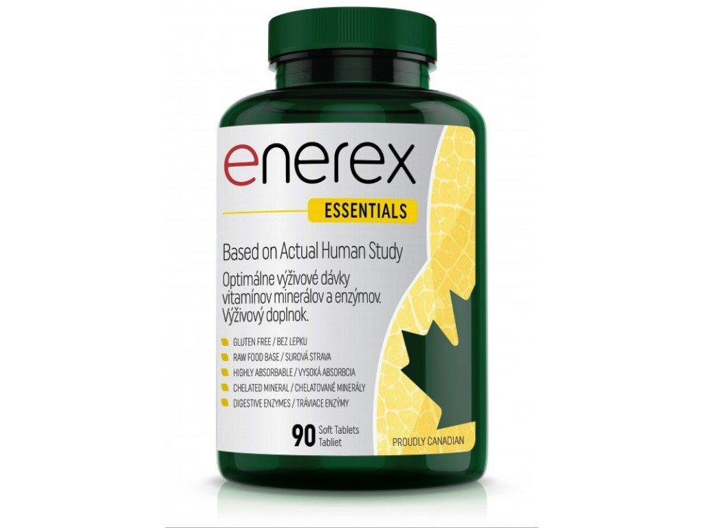 Enerex Essentials 90 tablet, zelené superpotraviny, vitamíny, minerály a enzymy pro celkové zdraví organismu