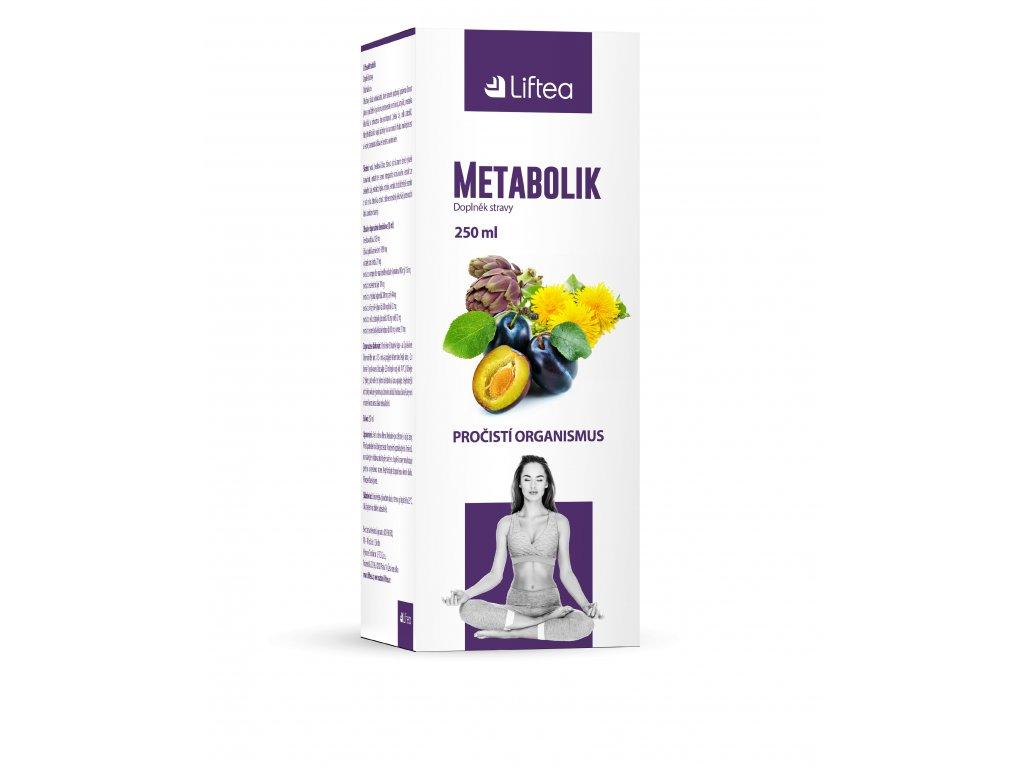 Liftea Metabolik, přírodní sirup na očištění organismu, pro podporu funkce jater a zažívání.