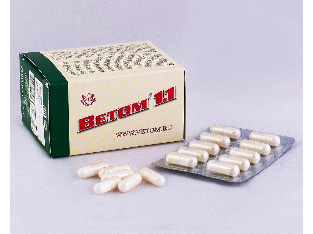 Vetom 1.1 je probiotikum. Slouží jako zdroj probiotickýchmikroorganismů ke zlepšení fungování gastrointestinálního traktu a obnovení střevní mikroflóry. Přispívák odstraňování toxinů z těla a normalizuje metabolismus a trávení.