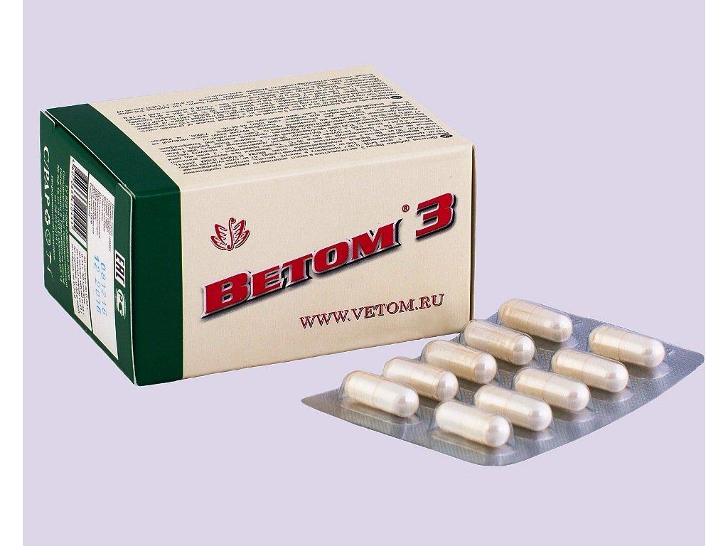 Vetom 3 je probiotikum, které působí v tlustém střevě. Zlepšuje fungování trávicího traktu a obnovuje střevní mikroflóru. Přispívák odstraňování toxinů.