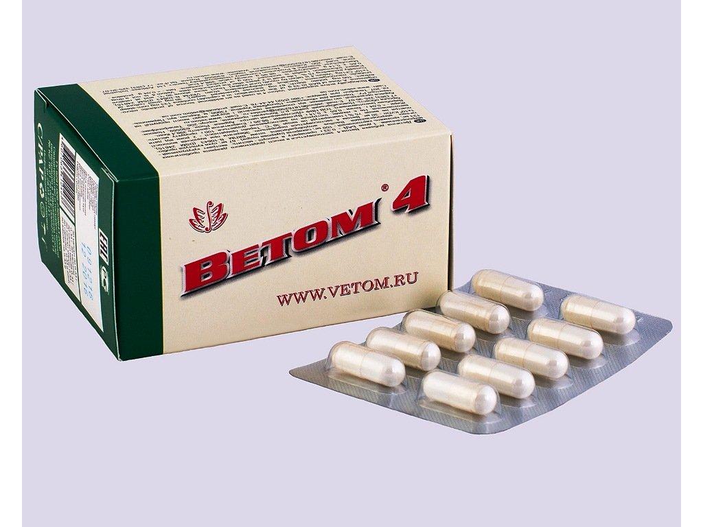 Vetom 4je biologicky aktivní probiotikum. Slouží jako zdroj probiotickýchmikroorganismů ke zlepšení fungování gastrointestinálního traktu a obnovení střevní mikroflóry.